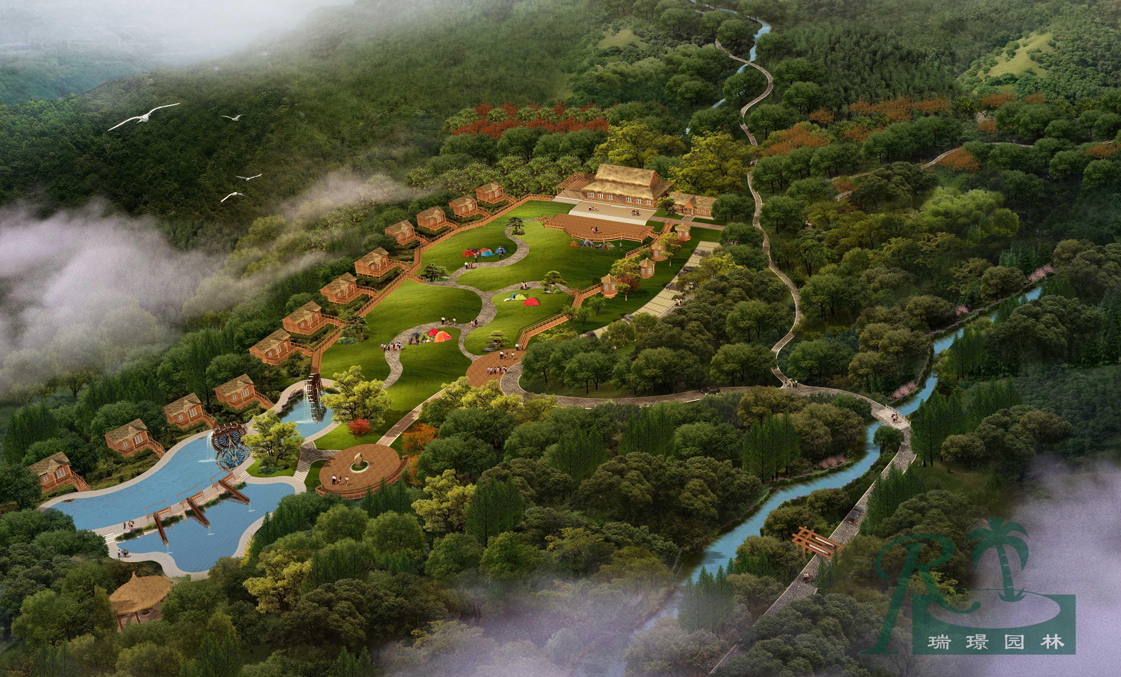 乡村俱乐部鸟瞰图项目规模:28000平方米项...