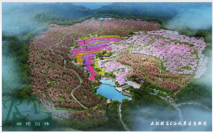 总体规划鸟瞰图项目规模:900亩项目地址:湖北省黄冈市