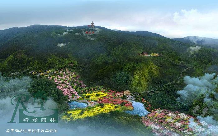 庄园鸟瞰图景区总体鸟瞰图项目规模:1500亩项目地址:湖...