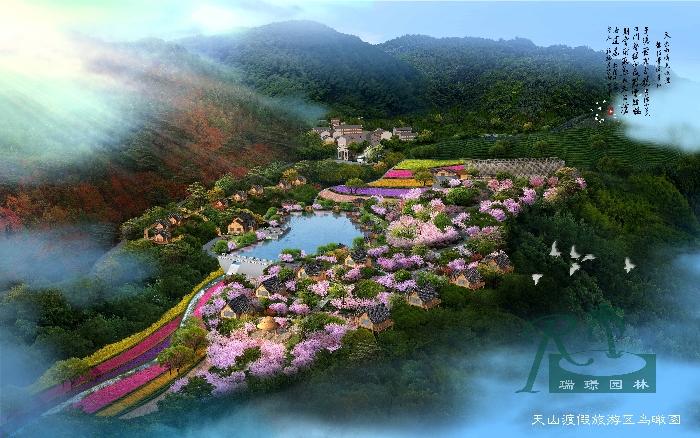 总体鸟瞰图项目规模:100亩项目地址:湖北省黄冈市